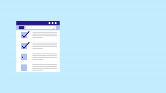 一覧の web テンプレート アニメーションをチェックする - 家の雑用点の映像素材/bロール