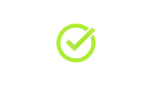 Check mark animation 4k video Check mark animation 4k video survey icon stock videos & royalty-free footage