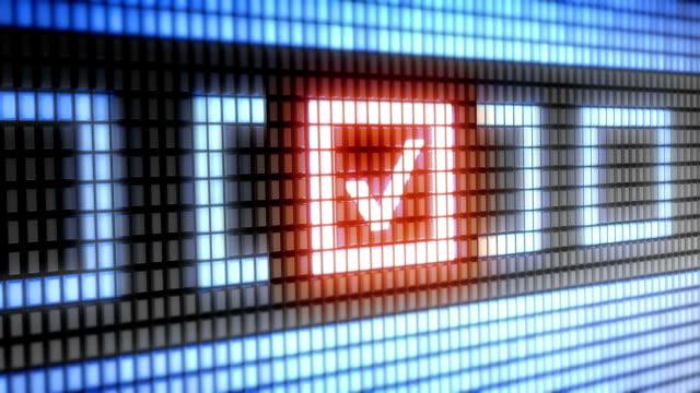 vídeos de stock, filmes e b-roll de verificar a caixa - validação