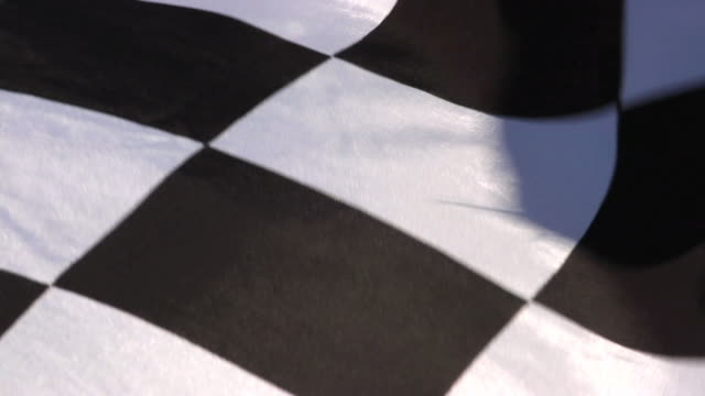 Checkered Flag Closeup 1 video