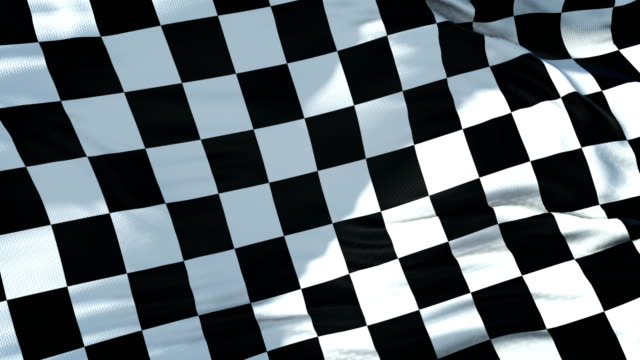 checkered flag, end race background,real movement , formula one competition - a quadri video stock e b–roll