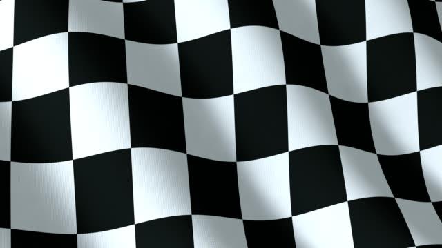Checkered flag, seamless loop video