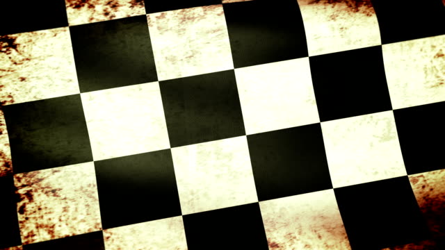 checkered flag waving, grunge look - formula 1 個影片檔及 b 捲影像