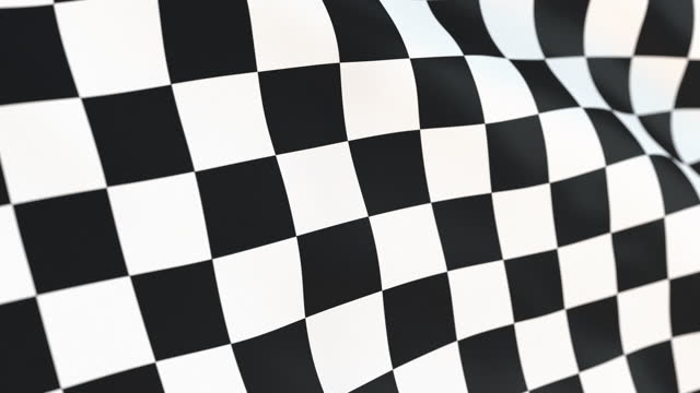 Checkered flag waving in wind