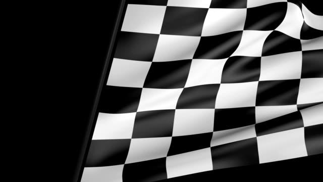 Karierte Flagge Tuch Übergang – Video