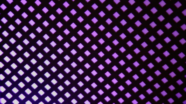 checkered glowing blue-violet background. 1080p