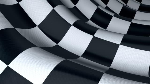 Checkered sport flag, seamless loop. 3d render video