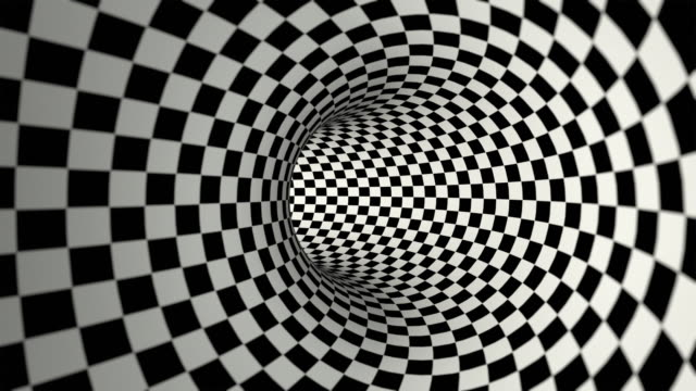 kariertes tunnel (endlos wiederholbar - karo stock-videos und b-roll-filmmaterial