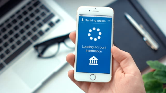 Checking bank account on banking app on the smartphone video