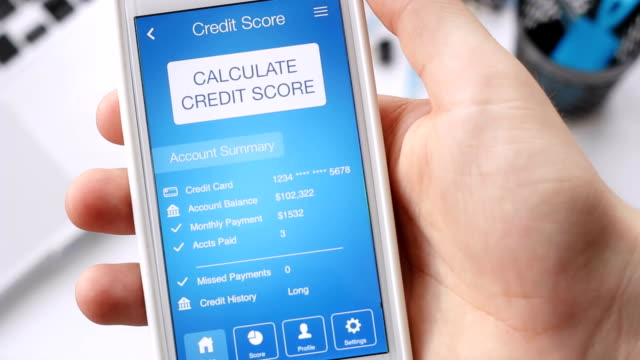 Checking credit score on smartphone using application. The result is NO CREDIT SCORE video
