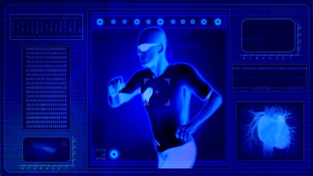 vidéos et rushes de vérifier les niveaux-x-ray vue. centre de remise en forme piste de jogging. - artériographie