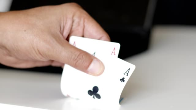 Checking play cards - one pair of Aces