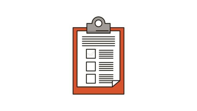 vidéos et rushes de papier de presse-papiers de liste de contrôle - bloc note