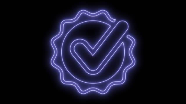 checkmark certificate symbol - качество стоковые видео и кадры b-roll