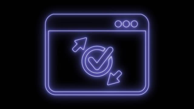 vídeos de stock, filmes e b-roll de ícone de transferência de marca de seleção - validação