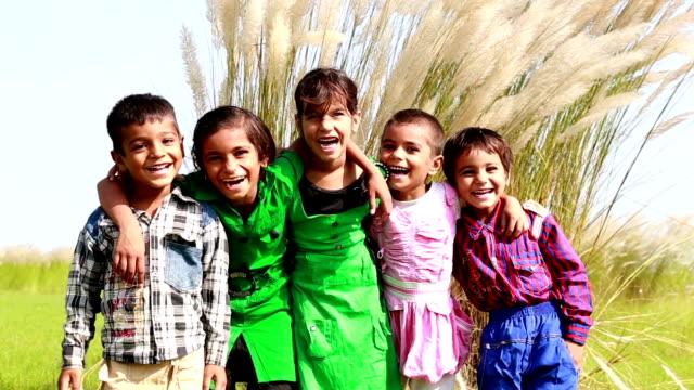 Cheerful Children Portrait video