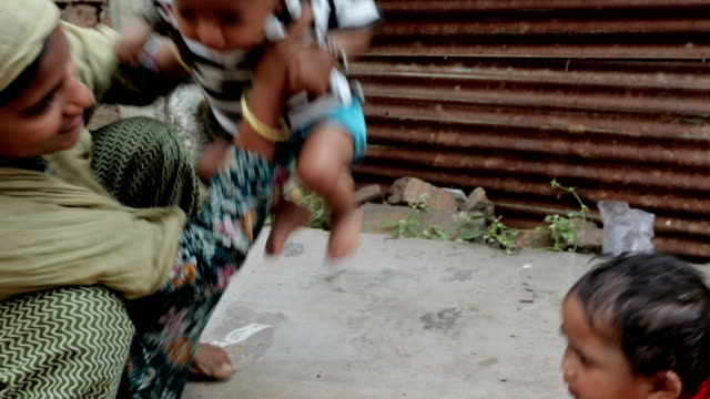 Cheerful Rural Indian mother and daughter video