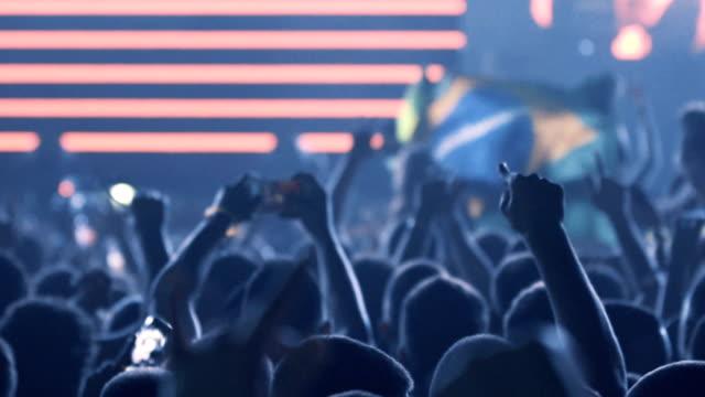 Aplausos da multidão em um concerto. - vídeo