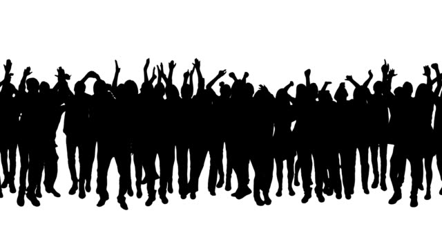 Cheering crowd. Pan. Loopable. Full length. Alpha matte. Crowd clapping and cheering. Full HD. Loopable. Created exclusively for iStock.  cheering stock videos & royalty-free footage
