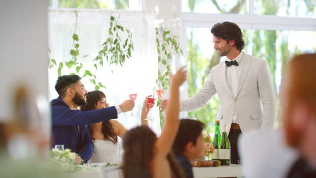 cheers! - video di matrimonio video stock e b–roll