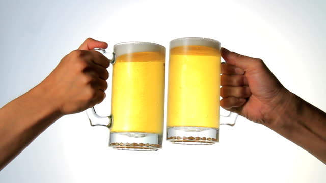 Cheers Beer drink a toast. celebratory toast stock videos & royalty-free footage
