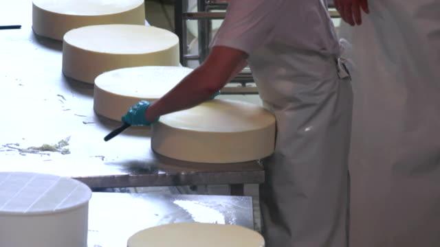 チーズブロックが調理される様子を保存 ビデオ
