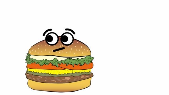 cheeseburger thinks of itself - cheeseburger filmów i materiałów b-roll