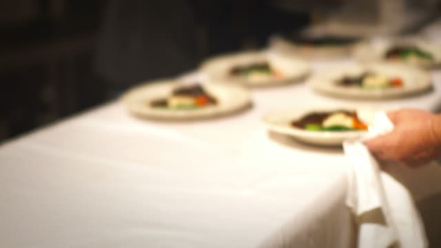 Chef Arranging Plate Food. video