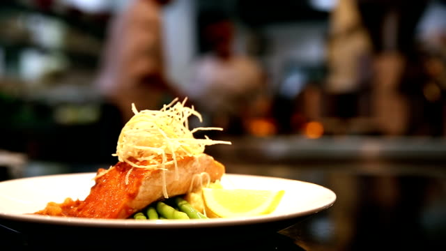 hd: chef cooking background - fine dining stock videos and b-roll footage