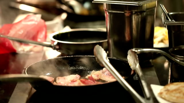 Chef cooking background video