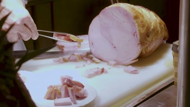 Chef Cutting Pork video
