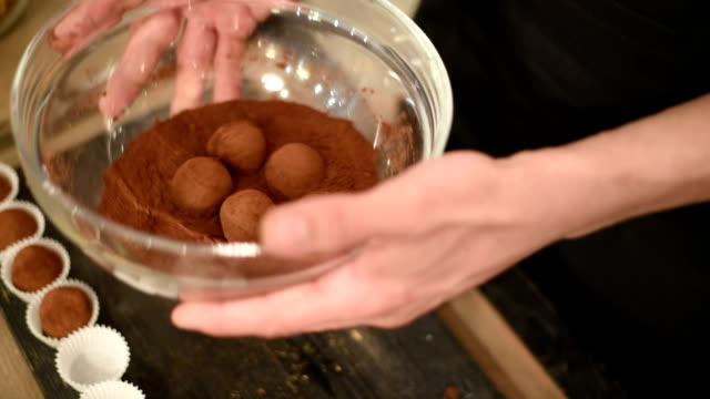 Chef makes sweets vegetarian video