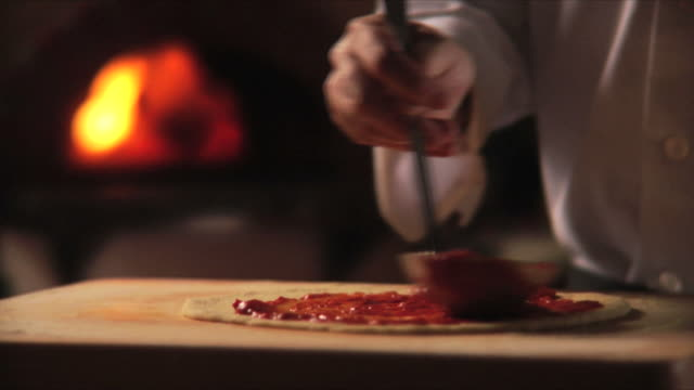 chef making pizza - pizza stock videos and b-roll footage