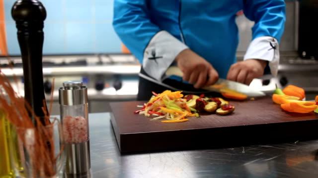 HD: Chef Preparing Food Dolly Shot video