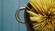 istock CLOSE UP: Chef Puts Spaghetti Into Stainless Saucepan 1180334588