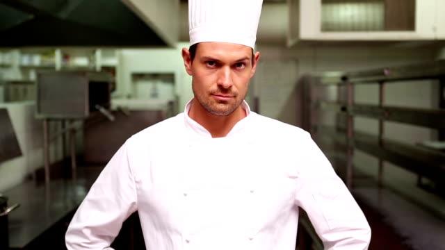 Chef smiling at camera video
