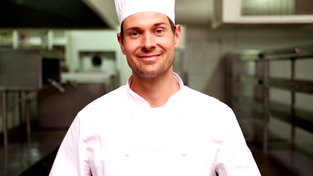 Chef smiling at camera video