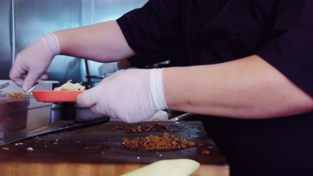Chefs Making Tacos in Mexican Restaurant video
