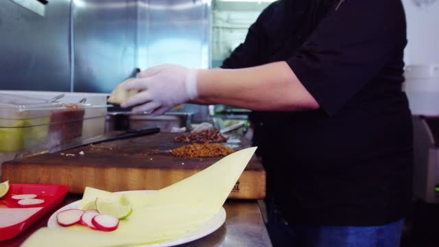 Chefs Working in Mexican Restaurant Kitchen video