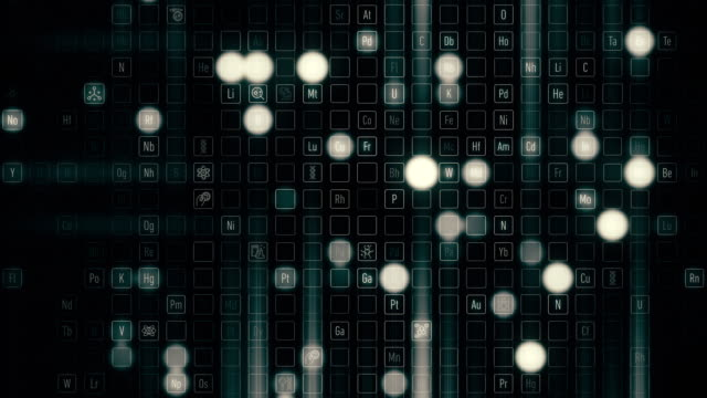 元素・ シンボル - 化学点の映像素材/bロール