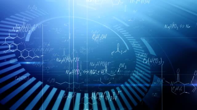 化学式(ブルー)のループ - 化学点の映像素材/bロール