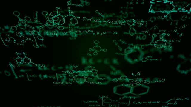 Chemical formulas (green) - Loop video
