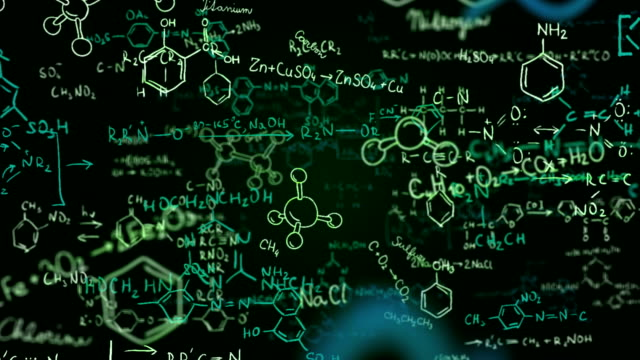 chemical formulas (green) - loop - chemistry stock videos and b-roll footage