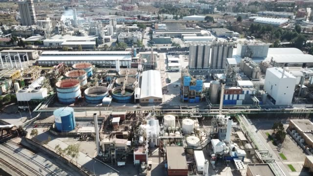 chemical plant and the surrounding area