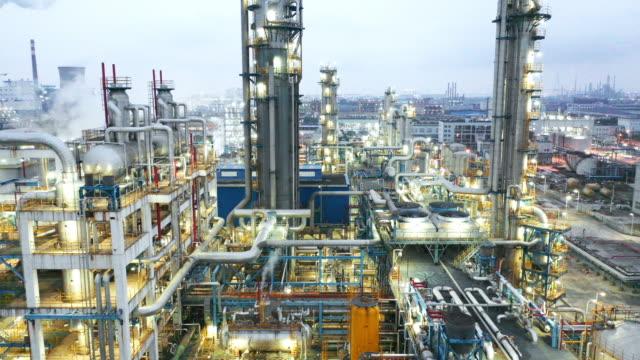 stockvideo's en b-roll-footage met chemische installatie - raffinaderij