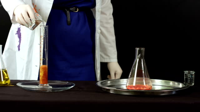 chemical reaction closeup - reagente video stock e b–roll