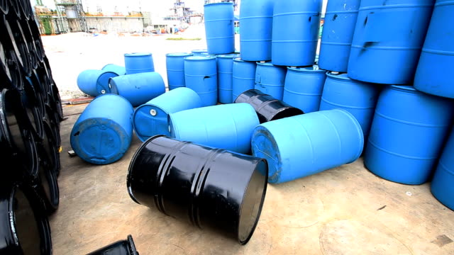 Chemical tank at storage yard video