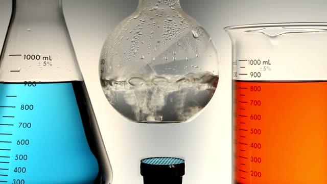 chemistry lab experiment - bunsen beki stok videoları ve detay görüntü çekimi