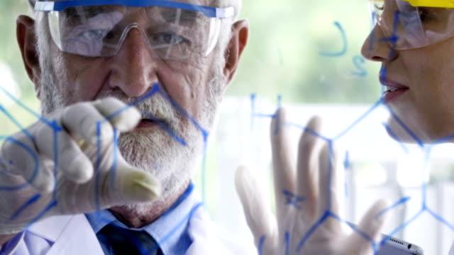 vidéos et rushes de 2 chimistes, nouveau projet de planification - chimie