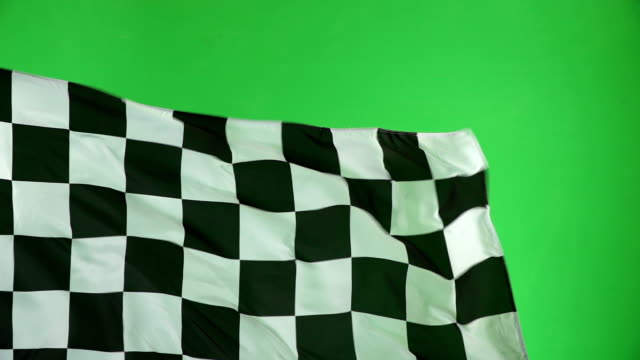 Chequered flag, Chroma key, Motor racing, Formula one Slow motion video